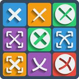 Set of 9 check marks web and mobile icons. Vector. Stock Photos