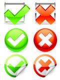 Check symbols. Royalty Free Stock Photos