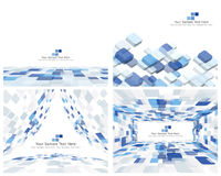 Set of 4 Checkered Background Royalty Free Stock Photos
