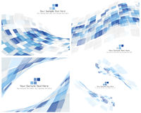 Set of 4 Checkered Background Stock Photography