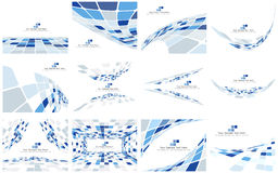 Set of Checkered Backgrounds Stock Image