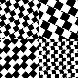 Set of checkered / black-white patterns. Royalty free vector illustration Royalty Free Stock Image
