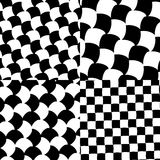 Set of checkered / black-white patterns. Royalty free vector illustration Royalty Free Stock Photography