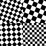 Set of checkered / black-white patterns. Royalty free vector illustration Royalty Free Stock Photos