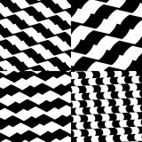 Set of checkered / black-white patterns. Royalty free vector illustration Stock Photos