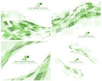 Set of 4 Checkered Green Background Royalty Free Stock Image