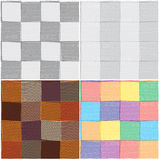 Set of checkered and striped seamless  patterns Royalty Free Stock Photography