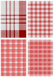 Set of checkered tablecloths Royalty Free Stock Photography