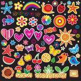 Set of cheerful sticker