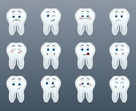 Set of cheerful teeth Royalty Free Stock Photo