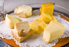 Set of cheese in a bowl. Royalty Free Stock Photo