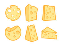Set of Cheese Icons Stock Photo