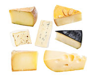 Set of cheese isolated Stock Image