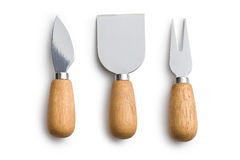 Set of cheese knives Stock Photo