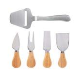 Set of  cheese knives Stock Photos