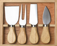 Set of cheese knives Royalty Free Stock Photography