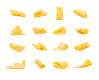 Set cheese. On a white background Royalty Free Stock Image