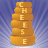Set of cheeses Stock Photos