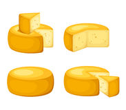 Set of cheeses. Vector illustration. Royalty Free Stock Photography