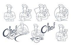 Set of Chef cook logo. vector illustration