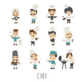 Set of chef costume characters Stock Photo