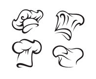 Set of chef hats Stock Images