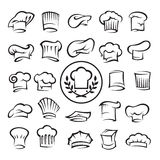 Set of chef hats Stock Photos