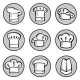Set of chef hats Royalty Free Stock Images