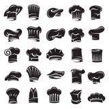 Set of chef hats royalty free illustration
