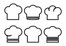 Set of chef hats. Vector illustration stock illustration