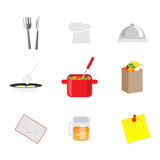Set of chef icons Stock Photos