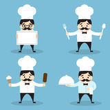 Set of chef icons Royalty Free Stock Photos