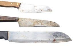 Set of chef kitchen knife isolated Stock Image