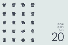 Set of chef`s hats icons Stock Photos