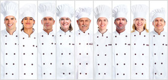 Set of Chef woman and man. Chef men and women set collection. Cooking and baking Stock Images