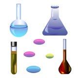 Set chemical ellements Stock Photos