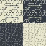 Set of chemical formula background seamless. The vector image Set of chemical formula background seamless stock illustration