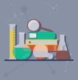 Set of chemical objects Stock Photography