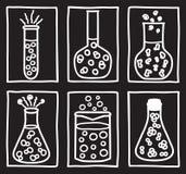 Set of chemical test tubes Stock Photo