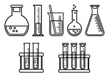 Set chemical vessels. Vector illustration stock illustration