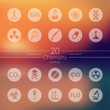 Set of chemistry icons Royalty Free Stock Photo