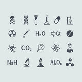 Set of chemistry icons Stock Images