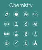 Set of chemistry simple icons Stock Images