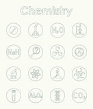 Set of chemistry simple icons Royalty Free Stock Photos