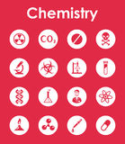Set of chemistry simple icons Royalty Free Stock Photography