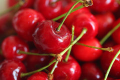 Set of cherry berry fruits  on white Royalty Free Stock Images