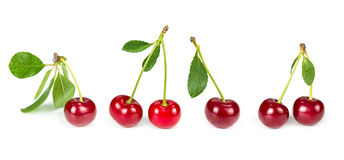 Set of  cherry Royalty Free Stock Photography