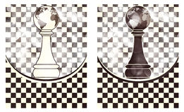 Set Chess abstract background Stock Images