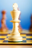 Set of chess figures on the  board Royalty Free Stock Images