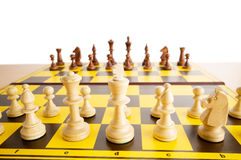 Set of chess figures on the  board Royalty Free Stock Photography